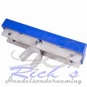 Bootkussen kunststof 100x300mm op u profiel, kantelblokje 30mm 2