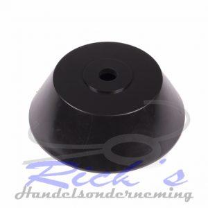 Bootrol eindconus / eindkap zwart 120x39x14 mm
