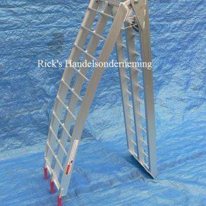 Oprijplaat opklapbaar 220×28 aluminium 340kg 2
