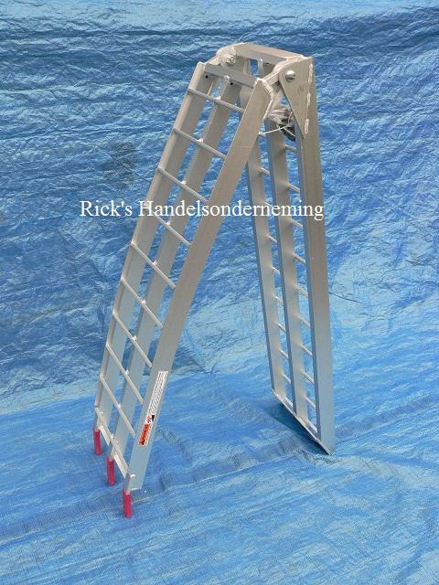 Oprijplaat opklapbaar 220x28 aluminium 340kg